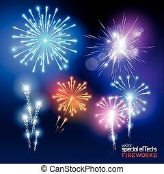 Vector Firework Collection