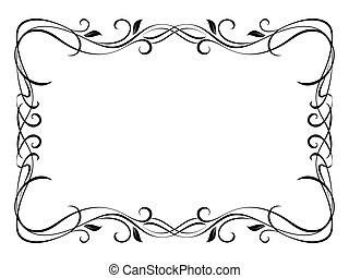 Vector floral abstract ornamental decorative frame pattern