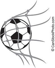 vector football ball (soccer ball, soccer ball for football, soccer ball in net, football icon, football goal, soccer goal)
