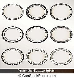 Vector Frame Set ornamental vintage