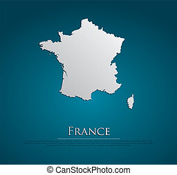 vector France Map card paper