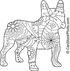 french bulldog coloring