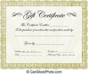 Vector Gift Certificate Frame