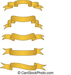 Vector Gold Scroll Banners