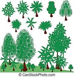 Vector graphic set trees. Clip Art