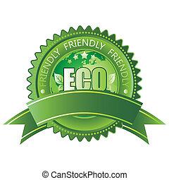vector green eco-friendly icon
