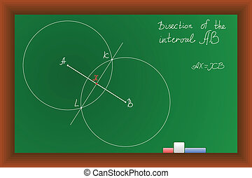 vector green school Blackboard