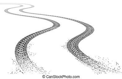 Vector grunge Tire tracks