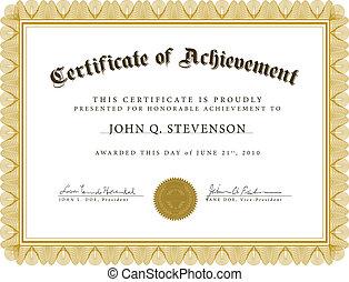 Vector Guilloche Certificate