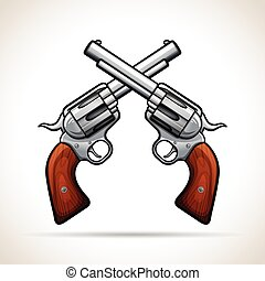 Vector gun design on white background