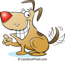 Vector - Happy Dog