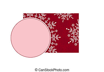 Holiday pattern and decorative frame.