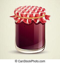 Vector Illustration of Homemade Jam