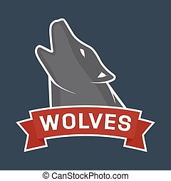 Vector howling wolf mascot