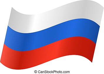Vector icon of a Russian flag