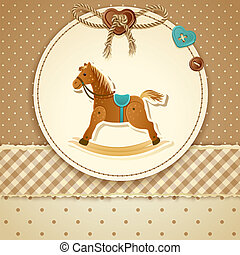 Vector illustration - Baby Shower Invitation (boy), EPS 10, RGB. Use transparency and blend modes