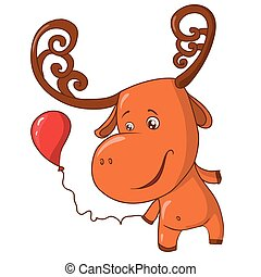 funny moose with balls