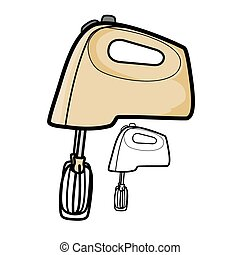 Vector illustration : Hand Mixer on a white background.