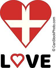 vector illustration love logo with health icon design