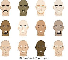Bald Men Faces