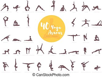 40 Yoga Asanas with names