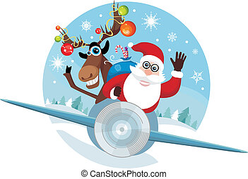 vector illustration of a christmas card
