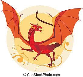 vector illustration of a dragon