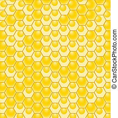 vector illustration of a honeycomb pattern