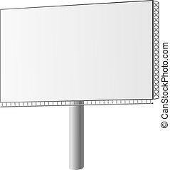 Vector illustration of a street billboard