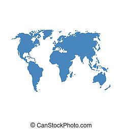 Vector illustration of a world map isolated on a white background.