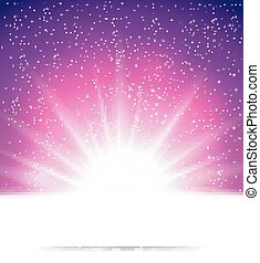 vector illustration of Abstract magic light background