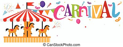 Vector Illustration of Amazing Funfair and carnival background