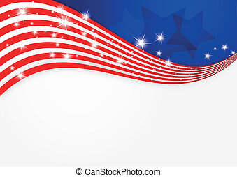 Vector illustration of American flag background