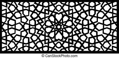 vector illustration of an arabesque design element