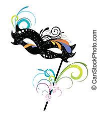 vector illustration of an elegant carnival mask