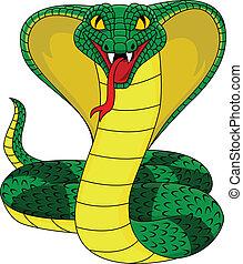 Vector illustration of angry cobra snake