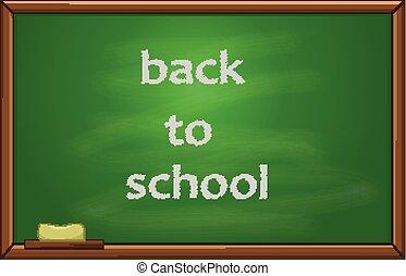 Back to school text on the blackboard