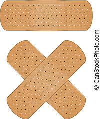 Vector illustration of bandage