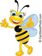 Bee cartoon thumb up