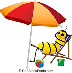 bee on holiday