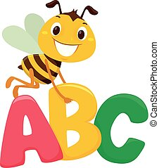 Bee with ABC letters