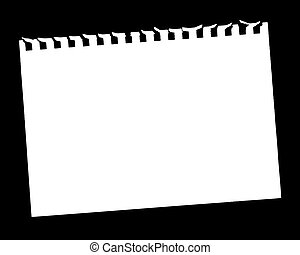 Vector Illustration of Blank Page