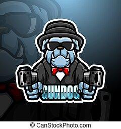 Bulldog mafia mascot esport logo design