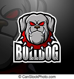Bulldog mascot esport logo design