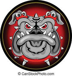 vector illustration of Bulldog Mascot Head