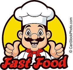 Cartoon Chef Giving Thumbs Up