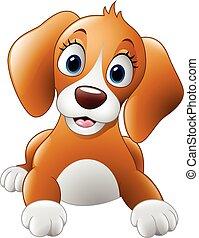 Cartoon cute dog