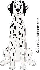 Vector illustration of Cartoon dalmatian dog sitting