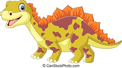Cartoon dinosaur on white background