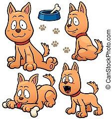 Vector illustration of Cartoon Dog Character